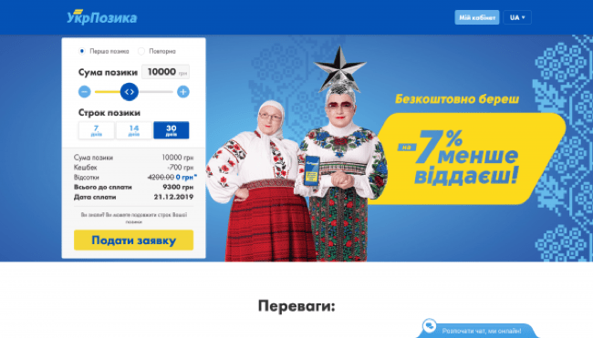 УкрПозика – Кредит до 23 000 грн